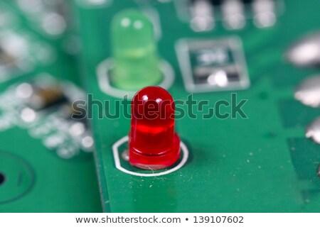 Basılı kırmızı bilgisayar ışık teknoloji arka plan Stok fotoğraf © inxti