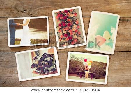 velho · vintage · casais · amor · árvore - foto stock © koca777
