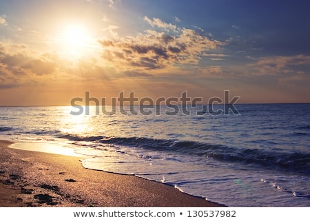 Early Morning At The Beach Foto stock © vrvalerian