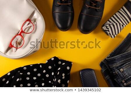 ubrania · dżinsy · buty · okulary · kamery - zdjęcia stock © zhekos