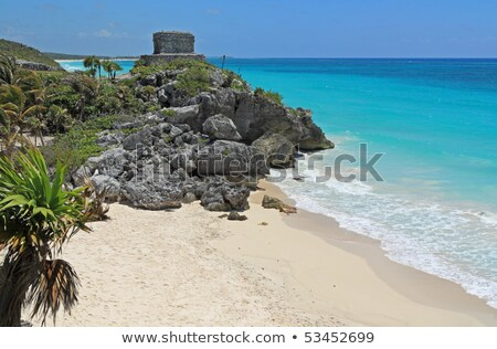 offertories building at tulum mexico stock photo © ozgur