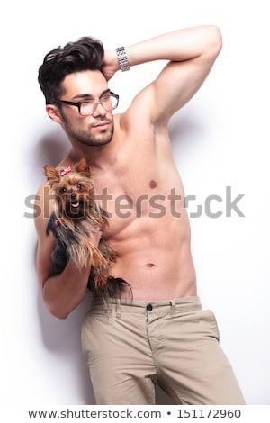 Topless homem mão cabelo moço Foto stock © feedough