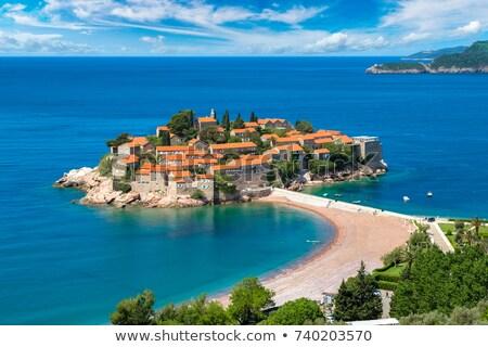 Панорама · побережье · острове · живописный · Черногория · пляж - Сток-фото © vlad_star