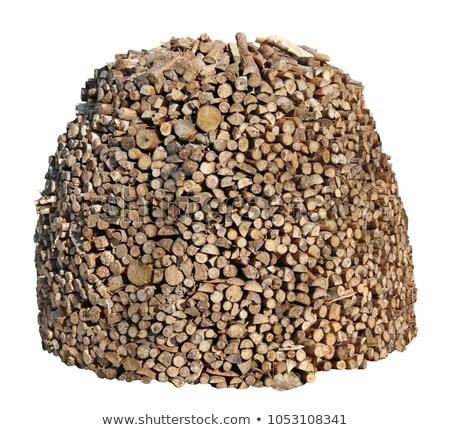 drogen · gehakt · brandhout · klaar · winter · boom - stockfoto © dedmorozz