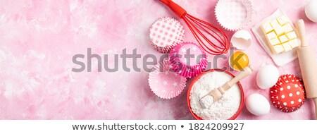 Baking cookies background Stock photo © MKucova
