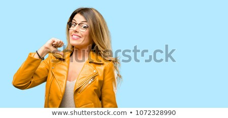 Standing pretty arrogant woman Stock photo © w20er