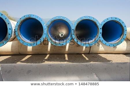 Kék vasaló cső fal textúra absztrakt Stock fotó © antonihalim