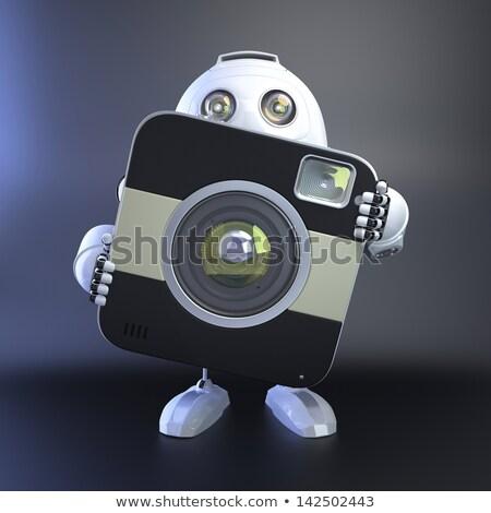 3d · man · digitale · camera · geïsoleerd · man · achtergrond · digitale - stockfoto © kirill_m