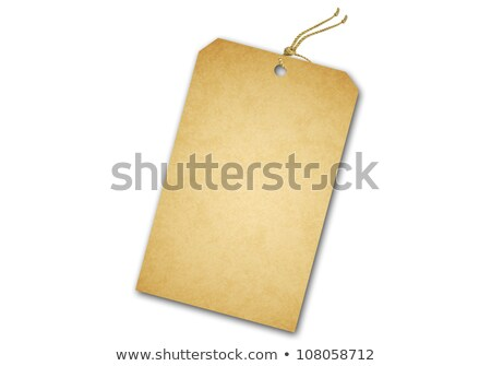 Blank tag tied with string. Price tag, gift tag, sale tag, addre Stock photo © oly5
