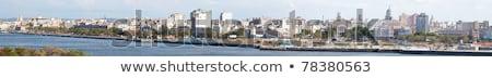 La · Habana · Cuba · horizonte · ciudad · edificio · azul - foto stock © weltreisendertj