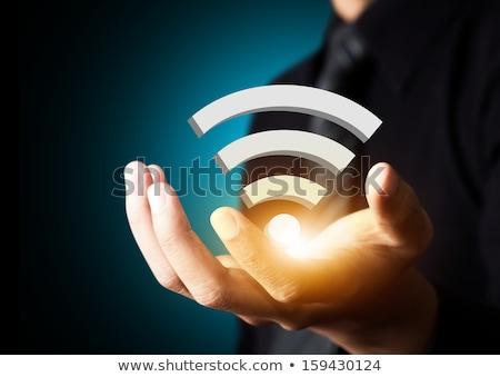 Internet rss wifi vettore abstract rete Foto d'archivio © burakowski