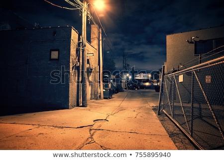 Opuszczony fabryki pusty parking mętny Zdjęcia stock © sirylok