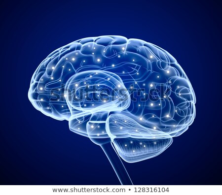 Brain impulses. Thinking prosess. Stock photo © m_pavlov