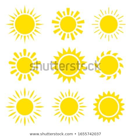 Stok fotoğraf: Ayarlamak · dokuz · simgeler · güneş · farklı · gökyüzü