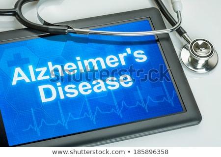 invecchiamento · display · medici · tablet · diagnosi · nero - foto d'archivio © zerbor