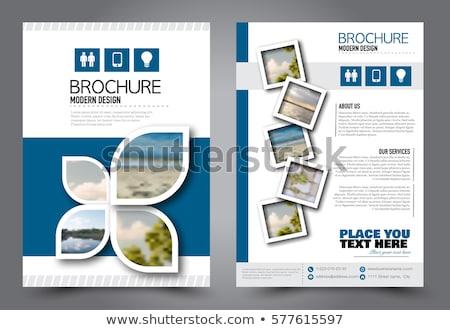 Photo stock: école · promotion · flyer · modèle · enfants · résumé
