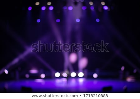 Stade éclairage éclairage musique bleu Photo stock © mahout