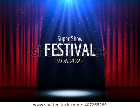 Entertainment Curtains Stock photo © Lightsource