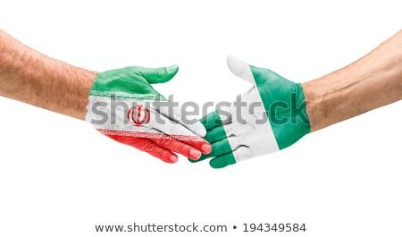 zászló · Irán · iráni · szalag · fából · készült · textúra - stock fotó © zerbor