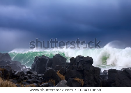 Ruig strand Oregon kust water zon Stockfoto © Frankljr