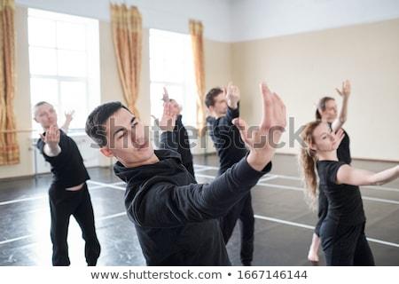 mutlu · insanlar · aerobik · sınıf · uygunluk · stüdyo · gülümseme - stok fotoğraf © monkey_business