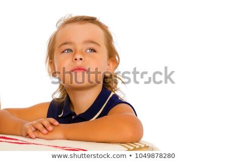 Portret gelukkig meisje glimlachend Stockfoto © ichiosea