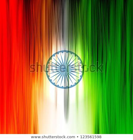 Indian banderą tekstury fali elegancki kolorowy Zdjęcia stock © bharat