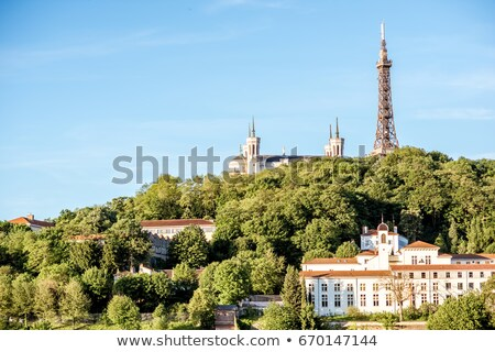 Görmek ünlü kule Lyon Fransa Avrupa Stok fotoğraf © vwalakte