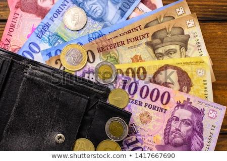 magyar · fotó · érmék · asztal · háttér · vásárlás - stock fotó © Nneirda
