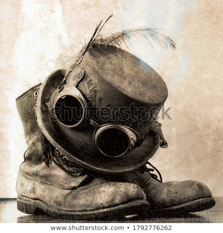 Steampunk top hoed science fiction metaal koper Stockfoto © Lightsource