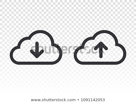 Upload from cloud icon. Upload button. Load symbol.  Stock photo © jarin13