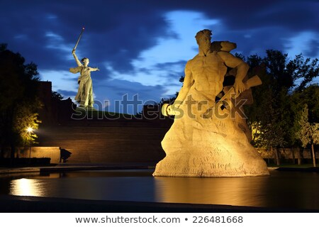 Monument Stay to Death at night in Volgograd Stock photo © Mikko
