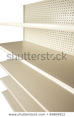 empty retail store shelves at extreme angle stock photo © 350jb