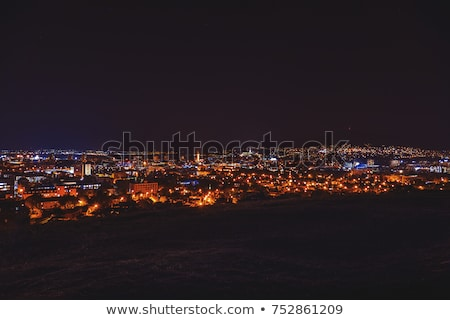 panorama of the city of nitra stock photo © kayco
