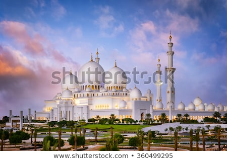 Абу-Даби · белый · мечети · город · Объединенные · Арабские · Эмираты · небе - Сток-фото © vwalakte