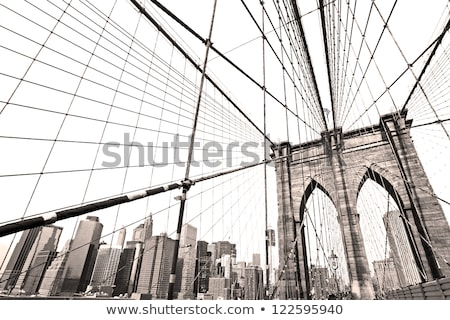 Manhattan Bridge New York NY NYC from Brooklyn Stock photo © lunamarina