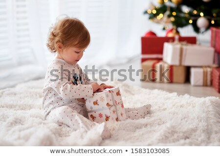 Stok fotoğraf: Baby With Present