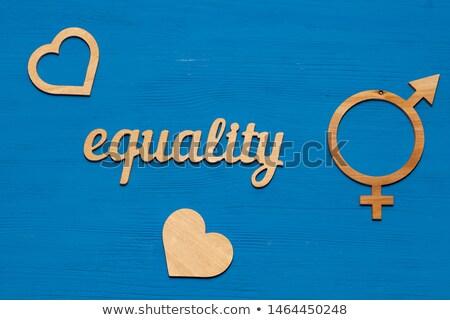 boy and girl  words with gender symbols on blackboard Stock photo © PixelsAway