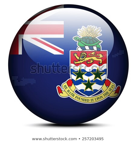 Map with Dot Pattern on flag button of Cayman Islands stock photo © Istanbul2009