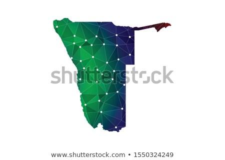 карта республика Намибия точка шаблон вектора Сток-фото © Istanbul2009