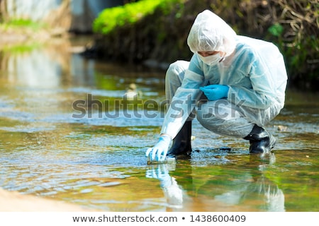 Pollution in river Stock photo © smithore