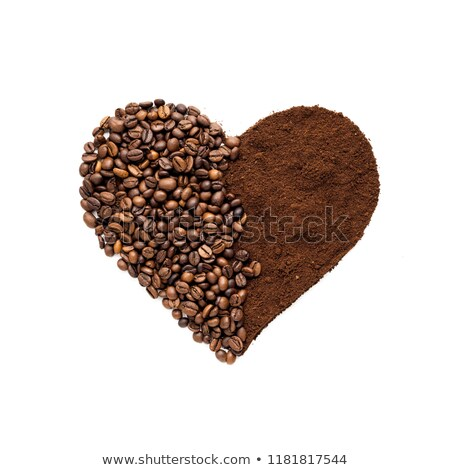 heart shape made from coffee beans stock photo © master1305