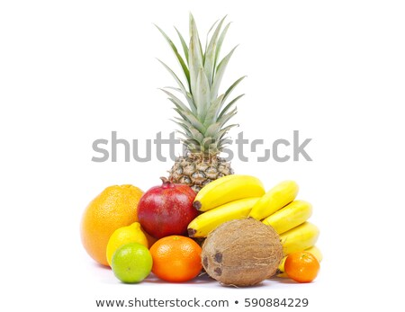 Fruits vitamine alimentaire tropicales pilules Photo stock © ia_64