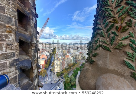 Festett üveg ablak família Barcelona szín Isten Stock fotó © matwatkins