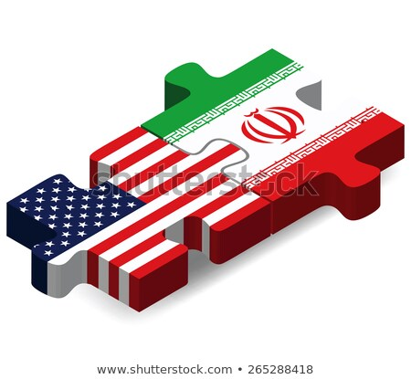 usa and iran flags in puzzle stock photo © istanbul2009
