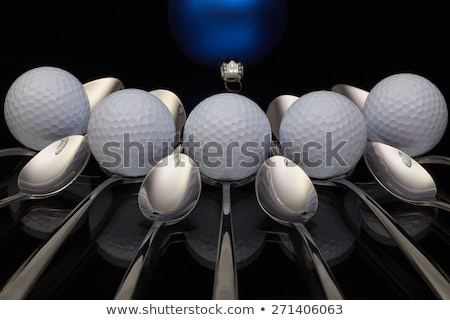 Azul natal decoração golfe nove Foto stock © CaptureLight