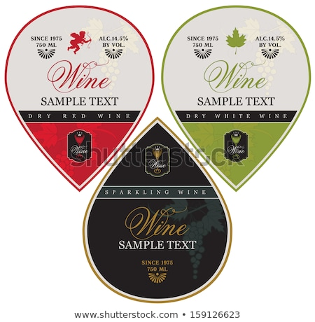 Labels set for wine Stock photo © -Baks-