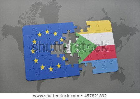 European Union and Comoros Flags in puzzle  Stock photo © Istanbul2009