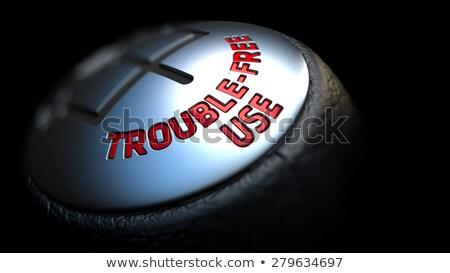 Versnelling stick Rood tekst zwarte selectieve aandacht Stockfoto © tashatuvango