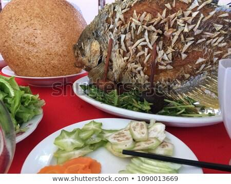 éléphant oreille poissons grillés prêt manger Photo stock © romitasromala